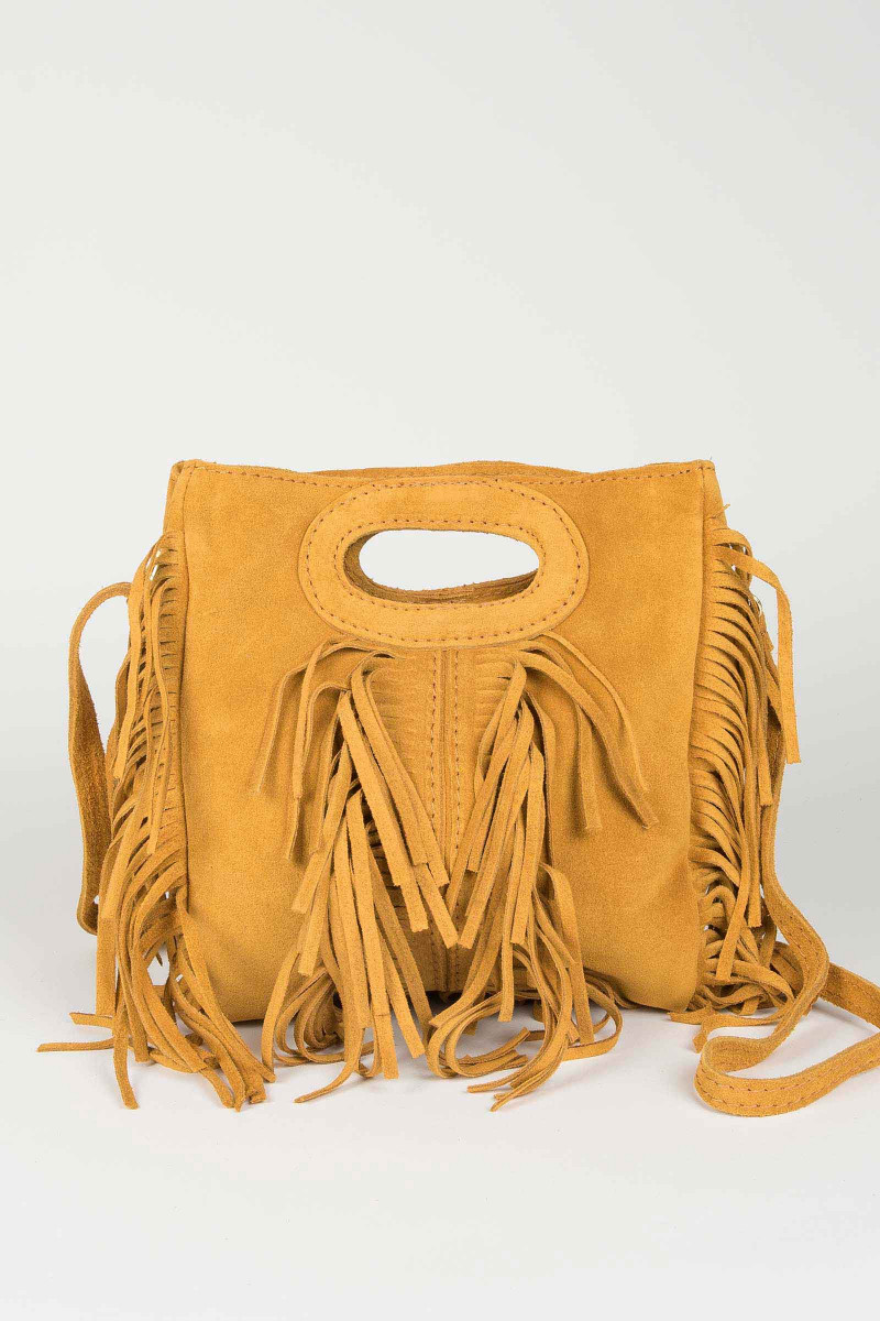 Mustard Fringed Bag Elisa & Eduardo Rivera