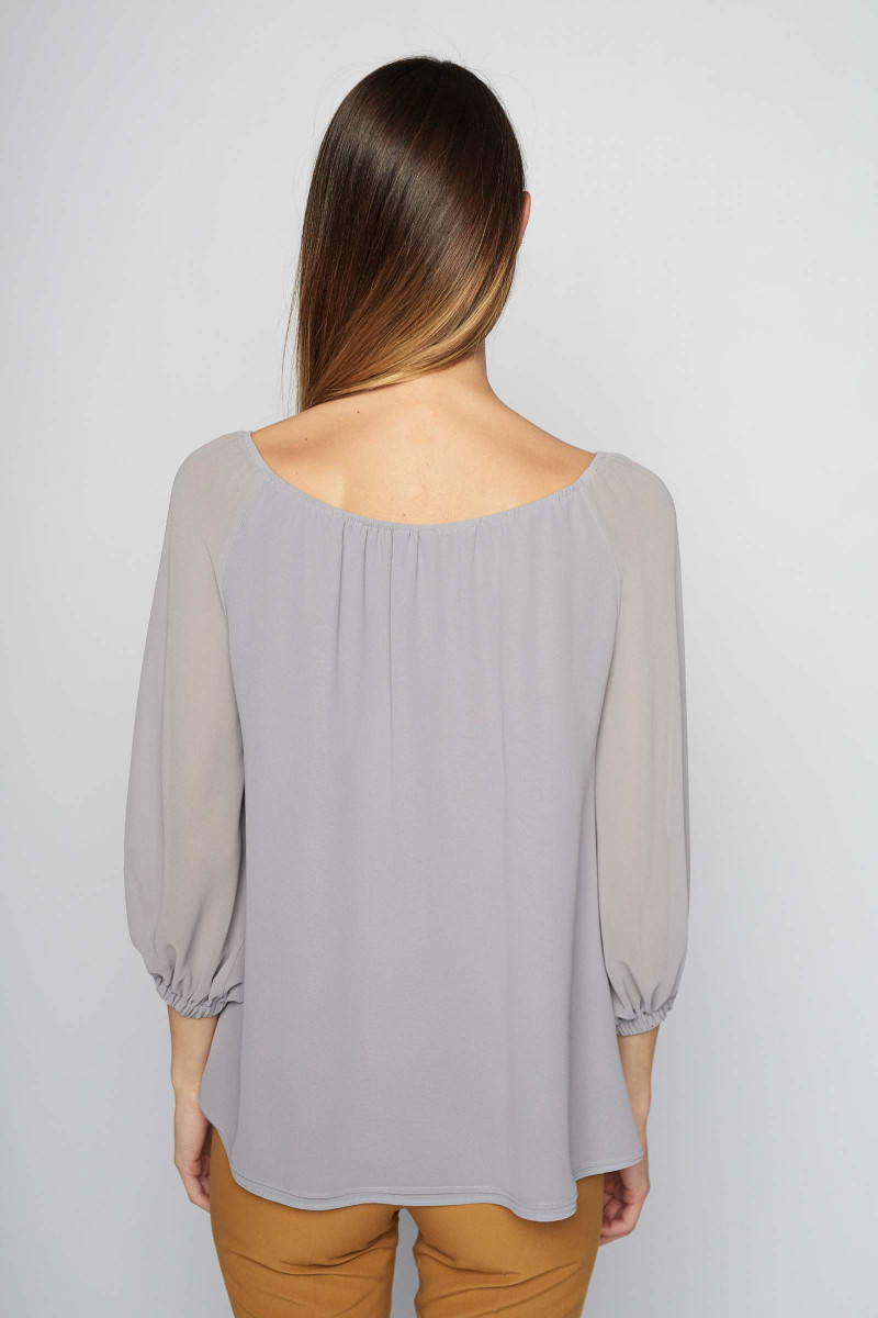Gray Lozoya Blouse