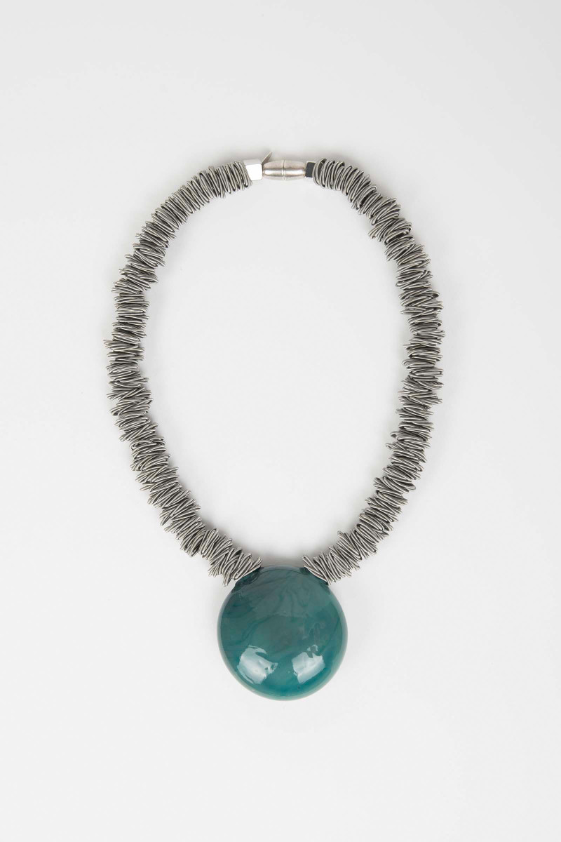 Water Green Malatea Necklace Elisa & Eduardo Rivera