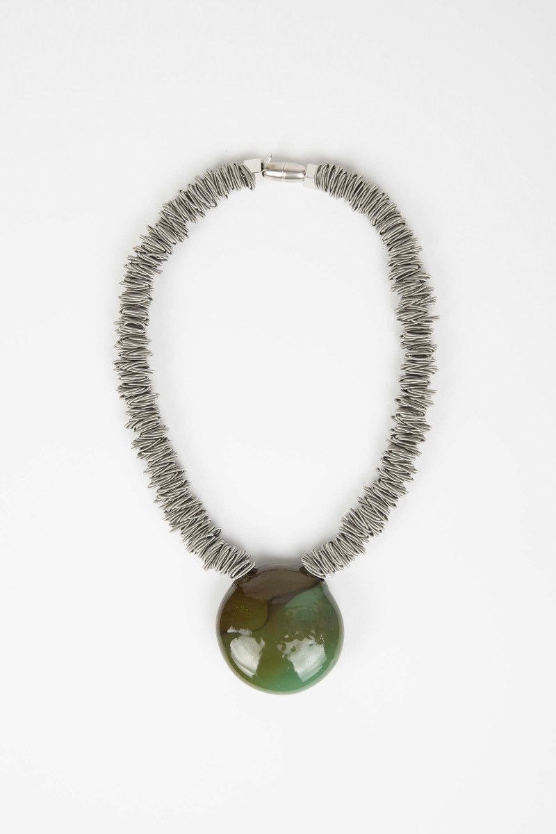 Green Malatea Necklace Elisa & Eduardo Rivera