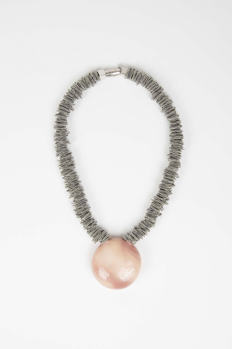 Pink Malatea Necklace Elisa & Eduardo Rivera