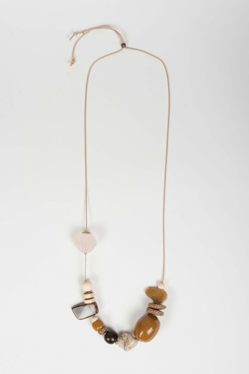 Camel Wood Necklace Elisa & Eduardo Rivera