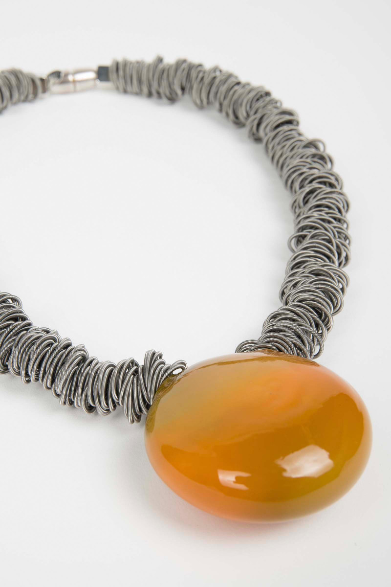 Orange Malatea Necklace