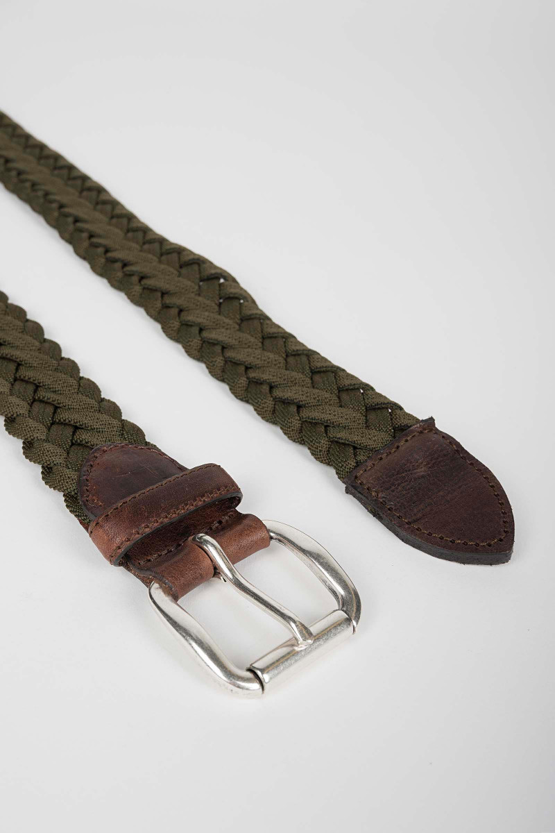 Green Braided Belt