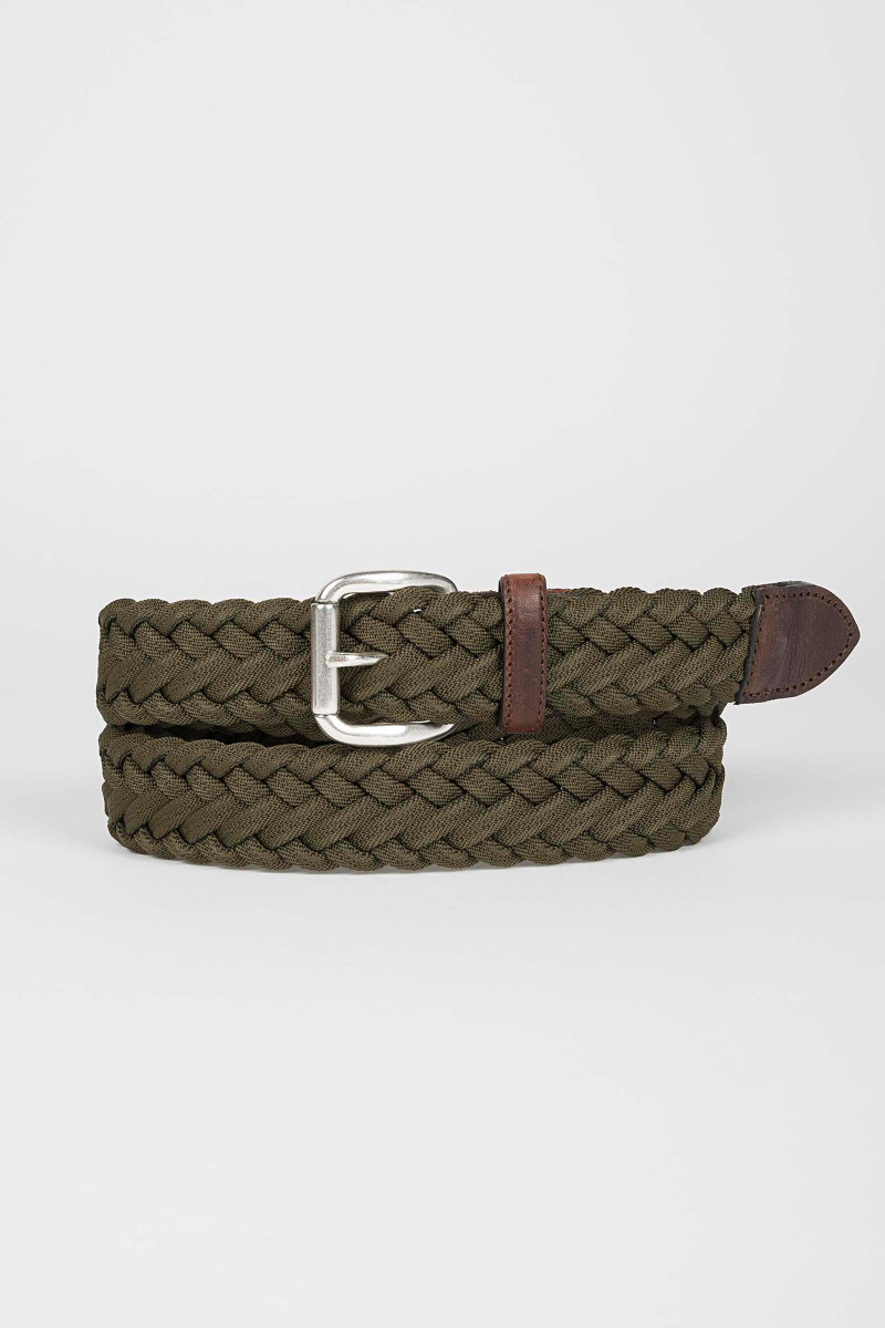 Green Braided Belt Eduardo & Elisa Rivera