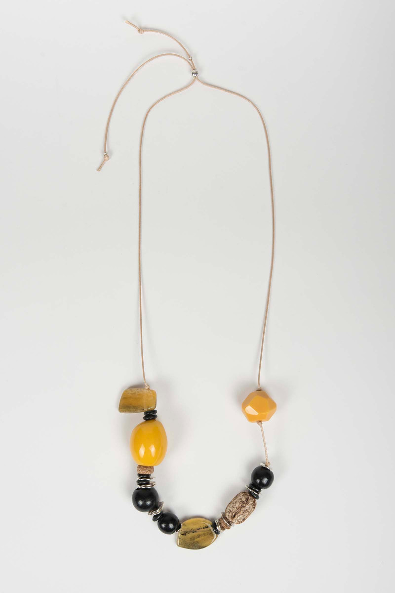 Yellow Wood Necklace  Elisa & Eduardo Rivera
