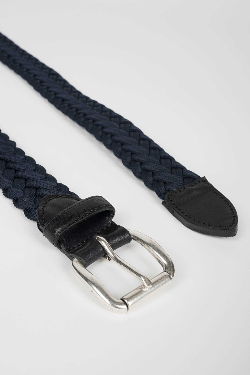 Blue Braided Belt