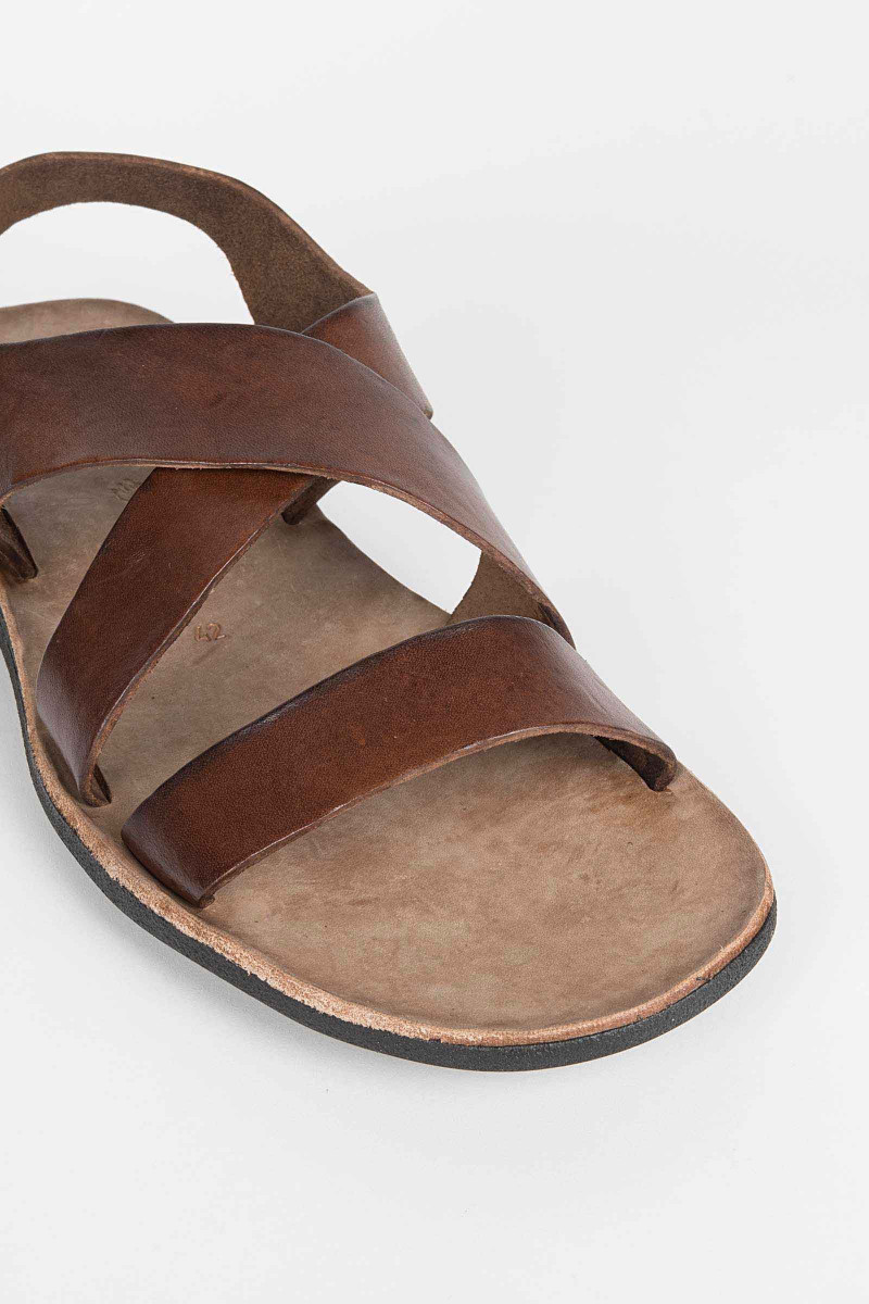 Brown Strap Leather Sandal