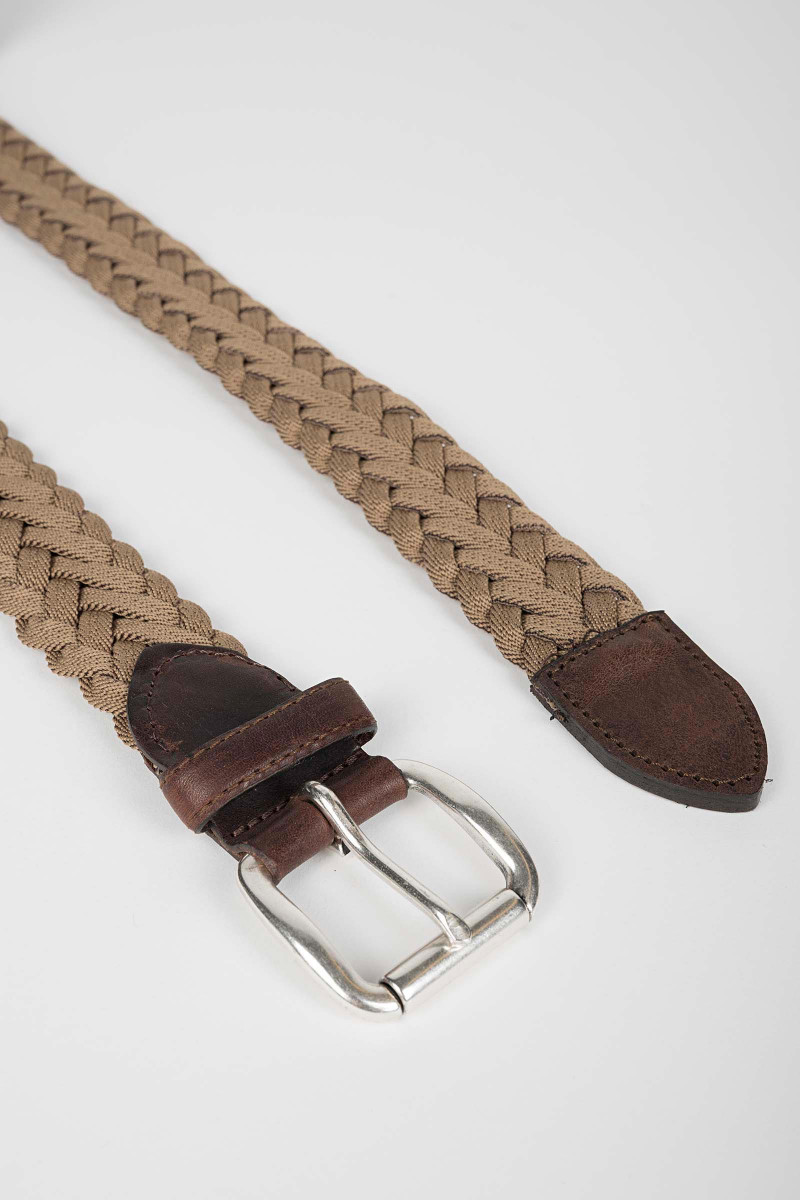Beige Braided Belt