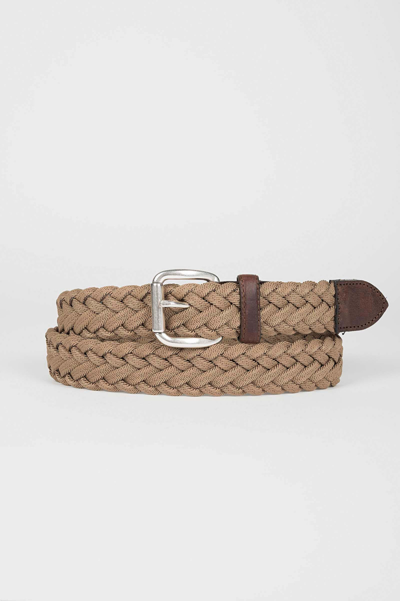Beige Braided Belt Eduardo & Elisa Rivera