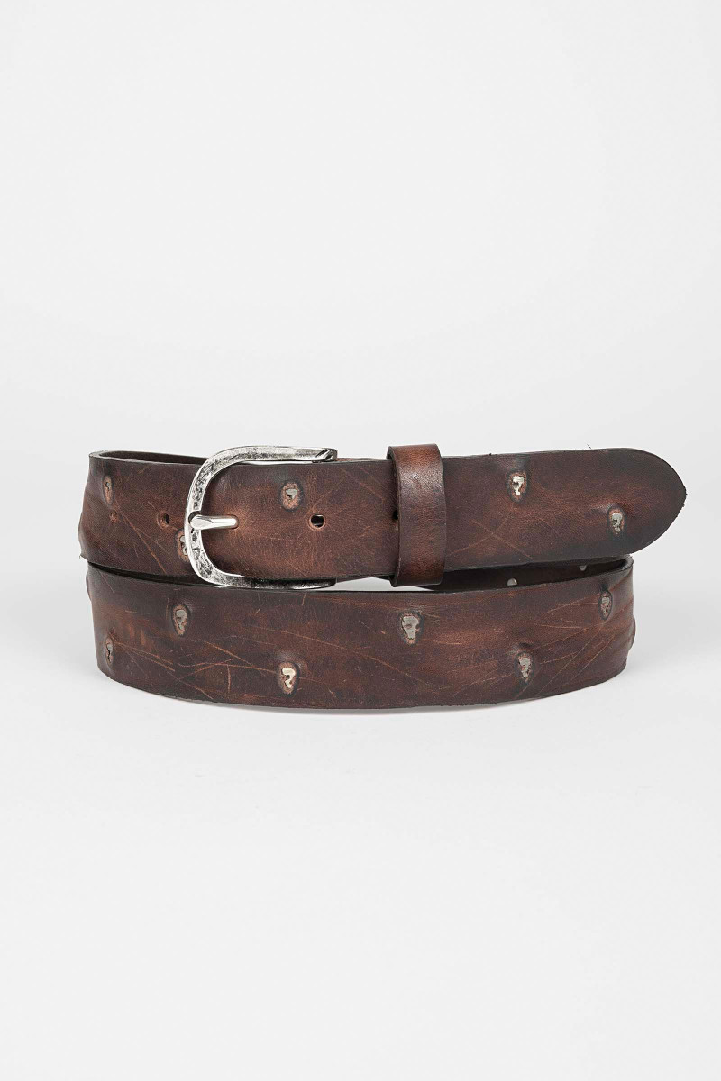 Brown Leather Belt Eduardo & Elisa Rivera