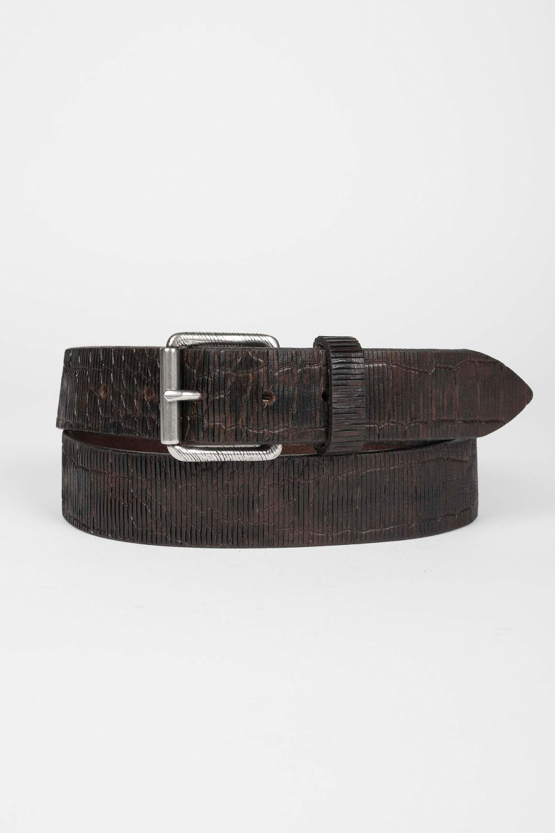 Textured Leather Belt Eduardo & Elisa Rivera