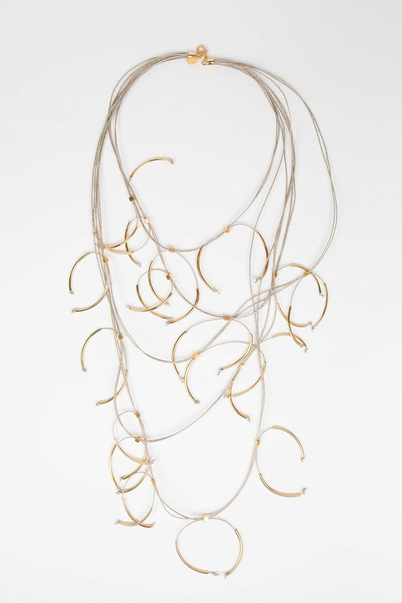 Golden Linen Necklace Elisa & Eduardo Rivera