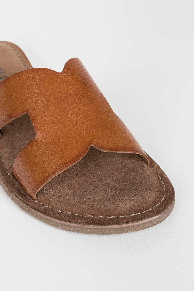 Cross Cognac Sandals