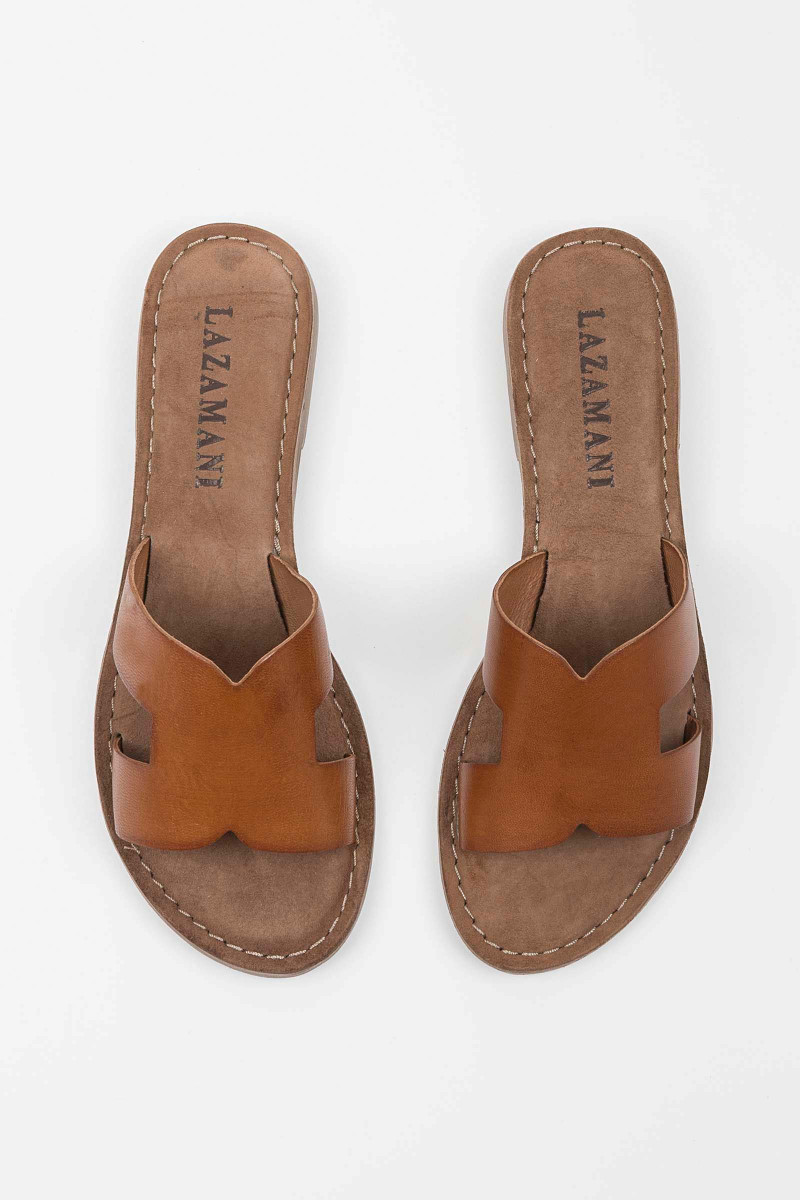 Sandalia Cross Cognac