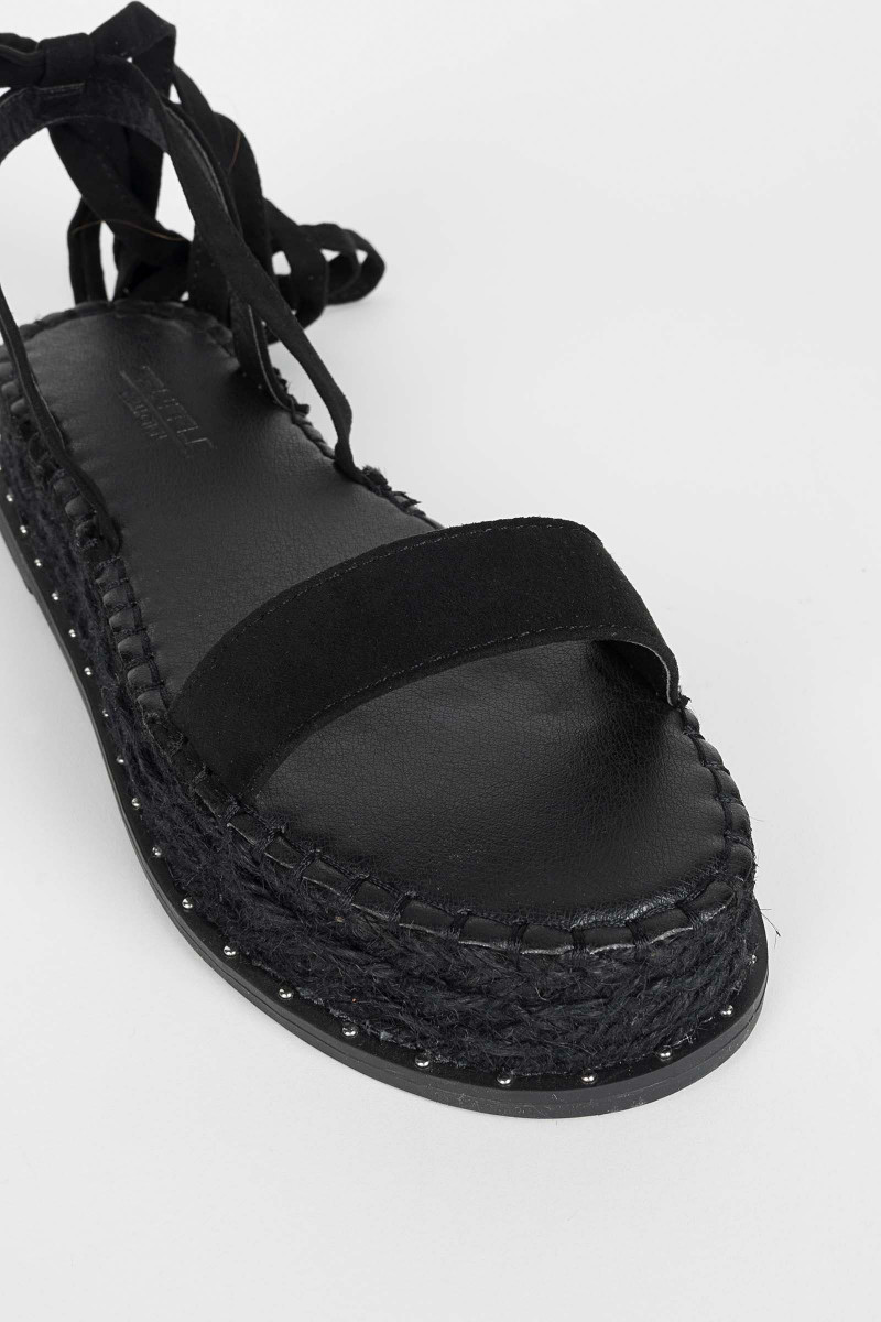 Black Esparto Sandals