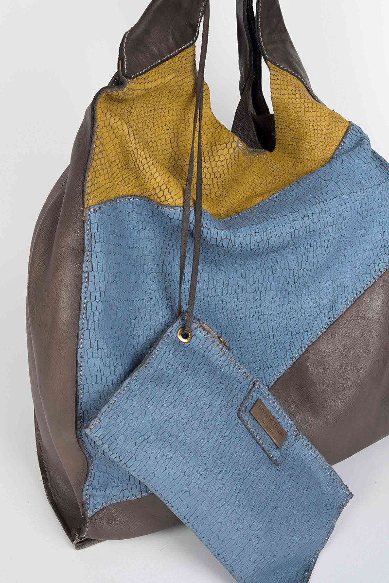 Three-Color Hobo Bag
