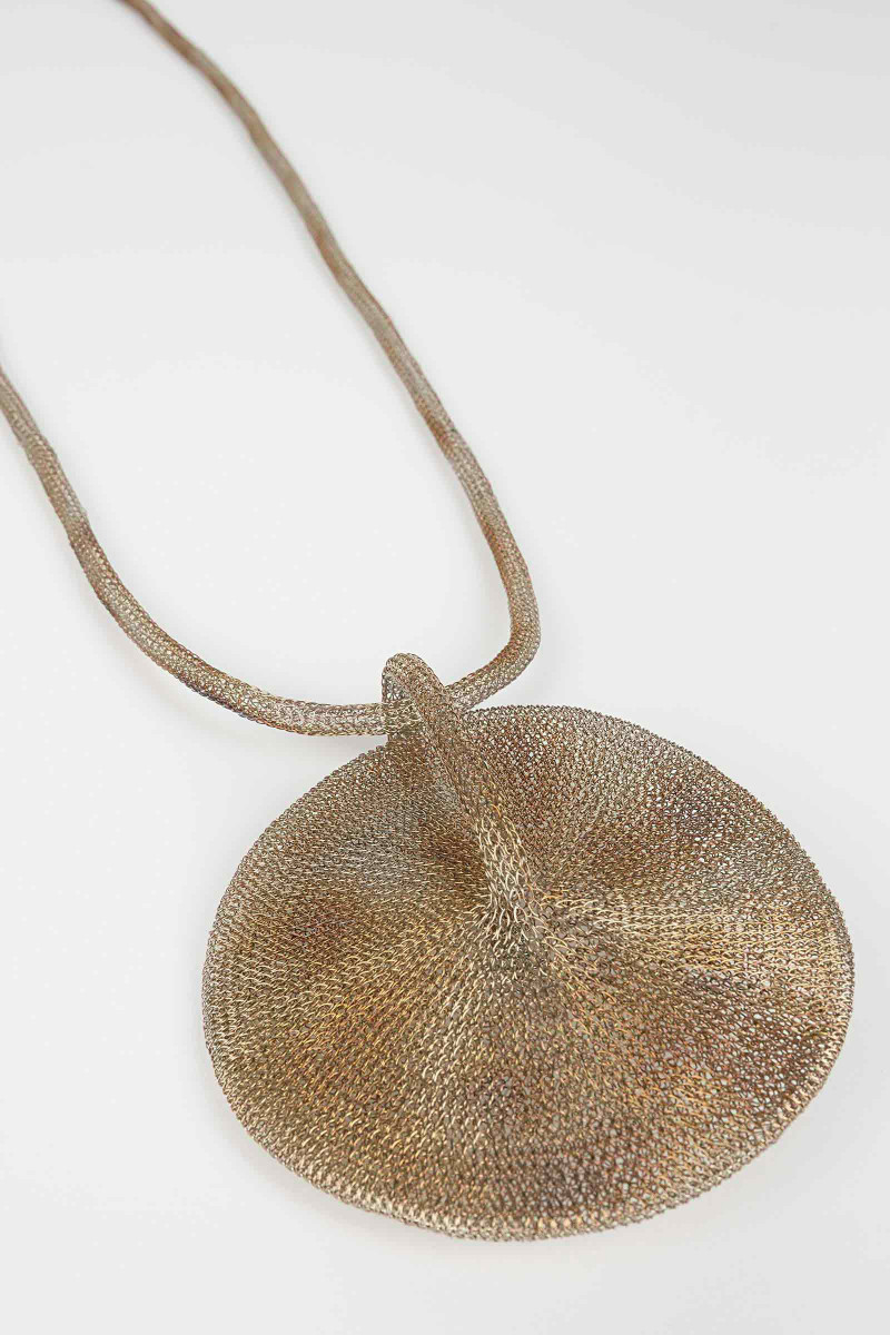 Mesh Gong Necklace