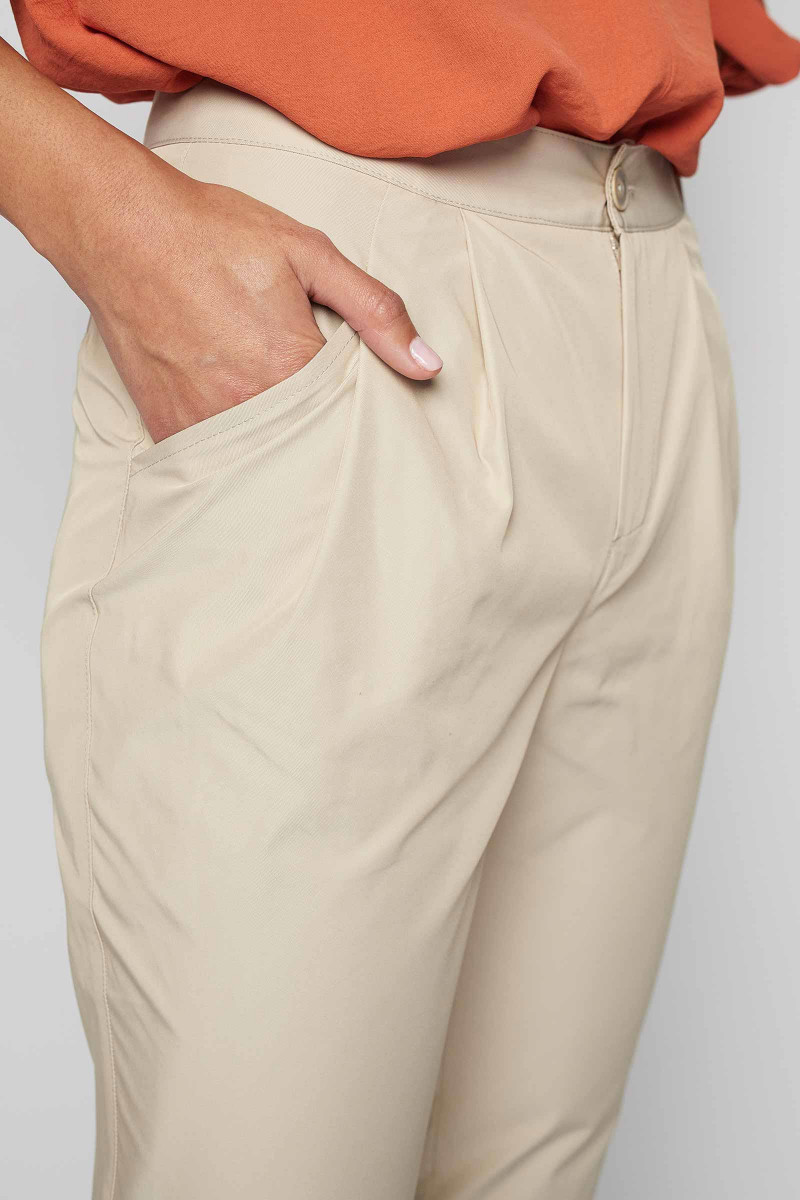 ecru tech pants made in spain