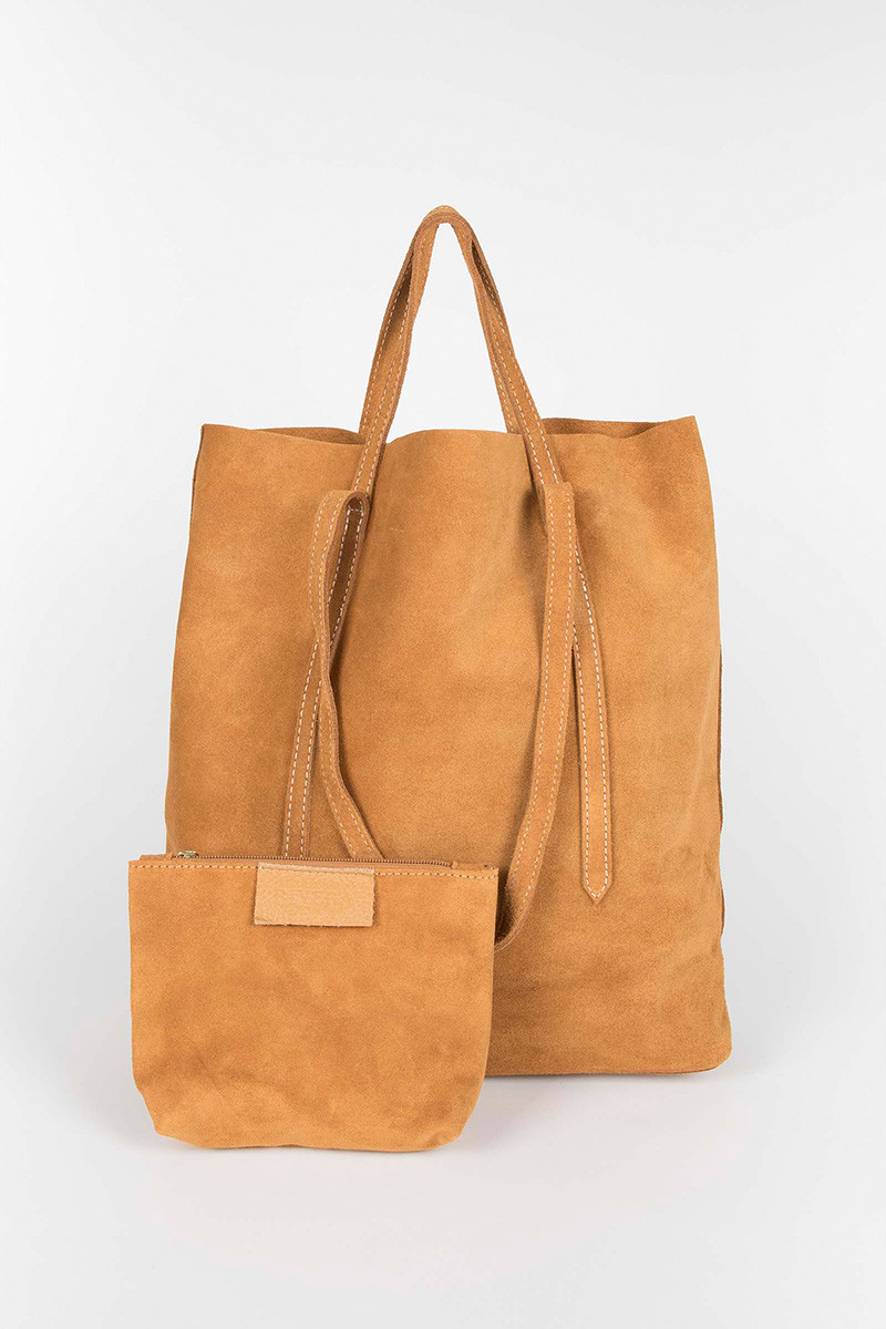Camel Double Strap Bag Elisa Rivera
