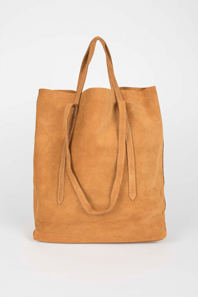 Camel Double Strap Bag