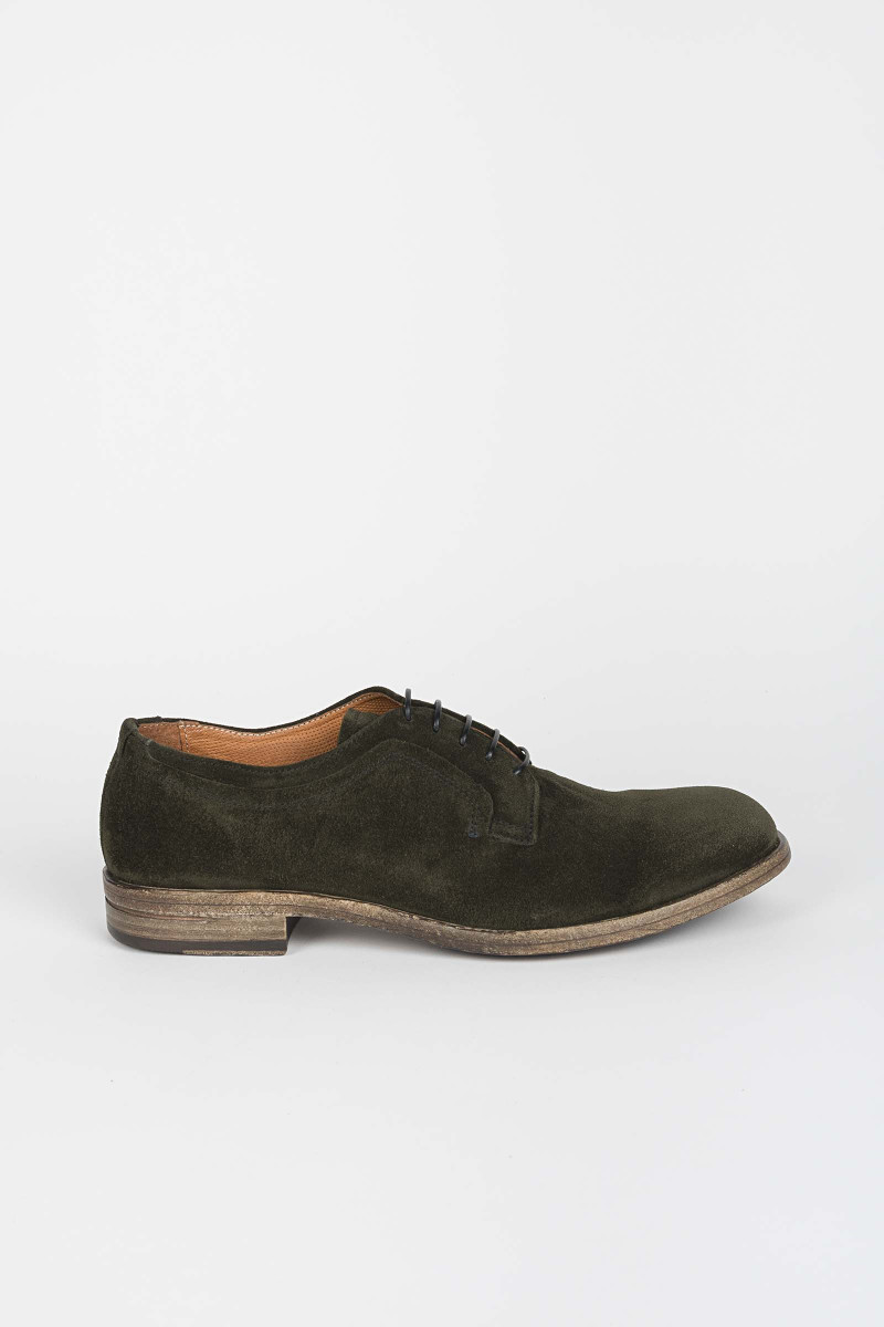 Suede Green Lace-up Eduardo Rivera