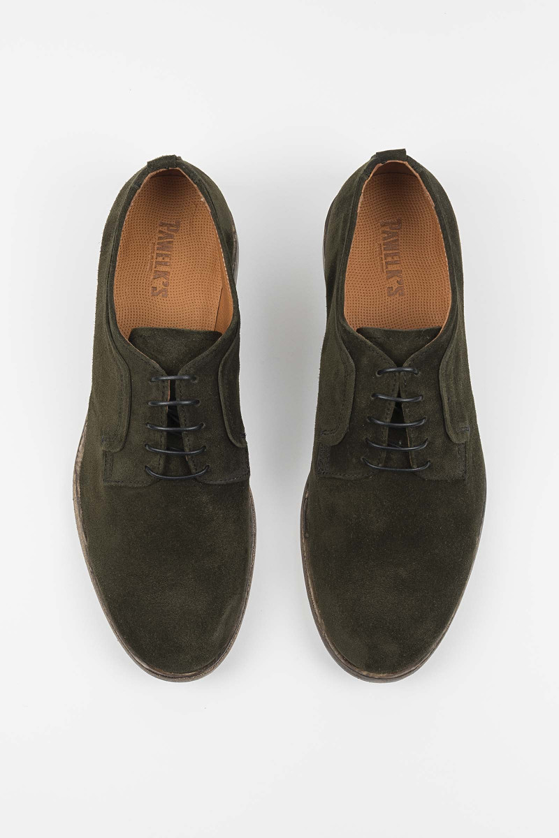 Suede Green Lace-up