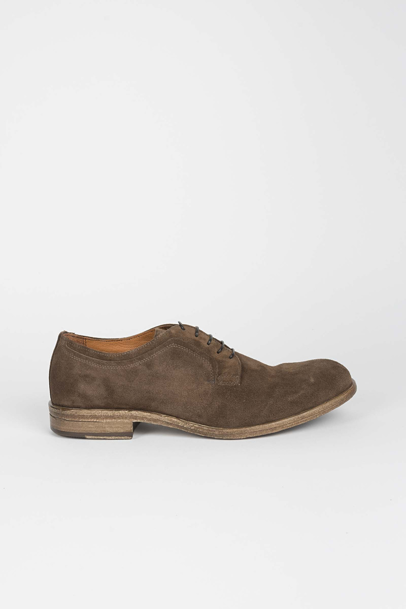Brown Suede Lace-up Shoes Eduardo Rivera