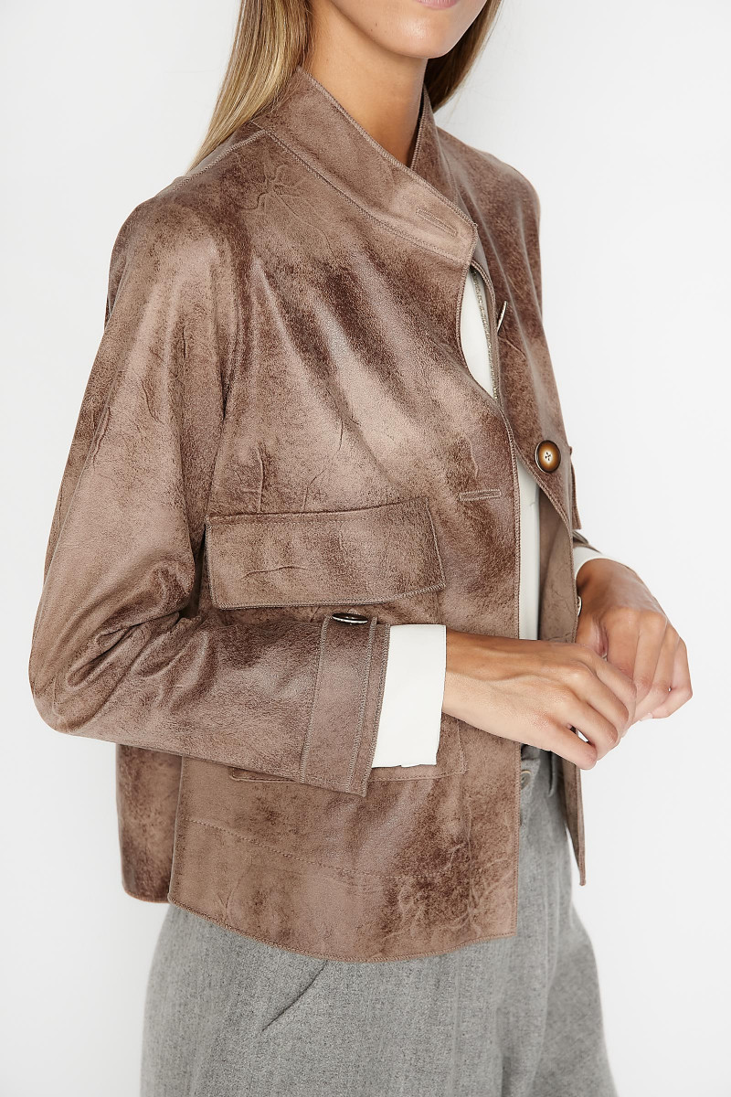Taupe Gibson Jacket