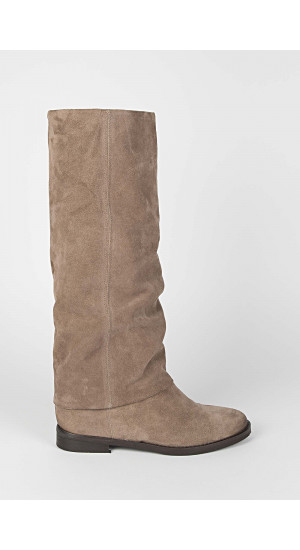 Taupe Slouch Boot Elisa Rivera