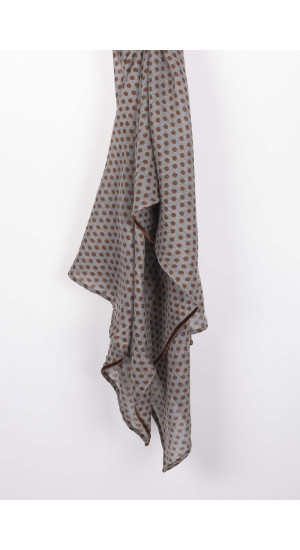 Brown Jerez Scarf  Elisa Rivera