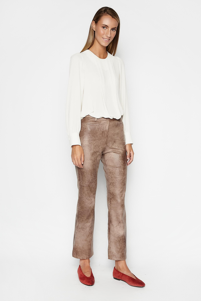 Brown Nogal Pants Elisa Rivera