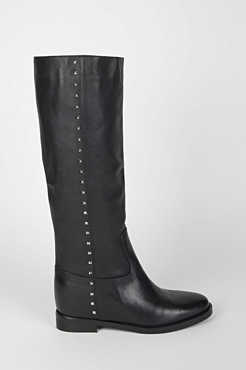 Black Leather Boots Elisa Rivera