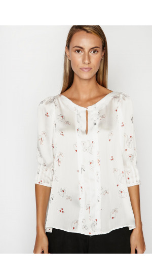 Hearts Blouse Elisa Rivera