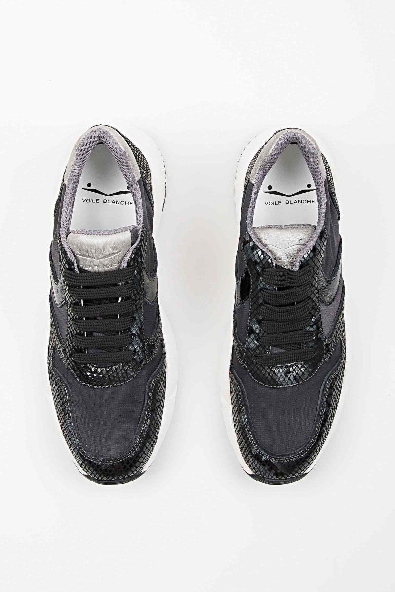 Zapatillas Sheel Negra-Plata