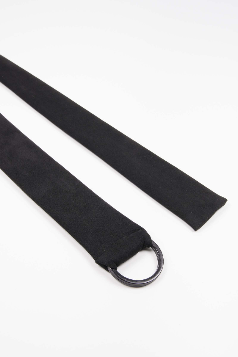 Black Buckle Suede Sash