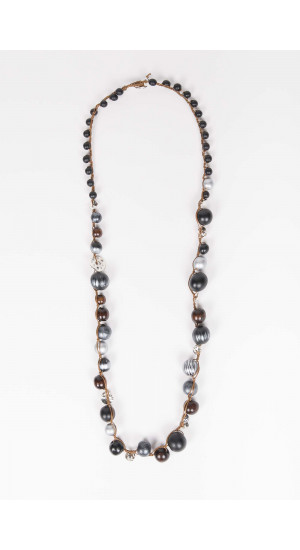 Black-Silver Chennai Necklace  Elisa Rivera