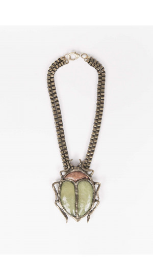 Green Mesh Necklace Elisa Rivera