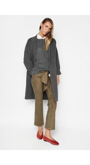 Gray Annie Coat Elisa Rivera