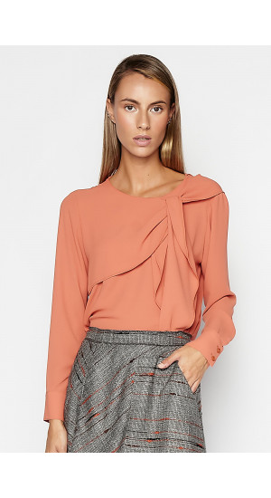 Orange Jarosa Blouse Elisa Rivera