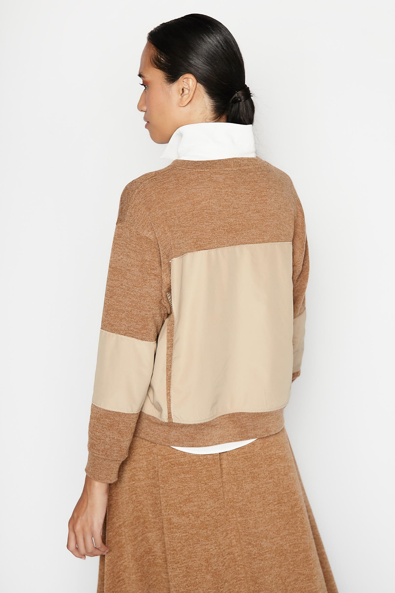 Beige Tecno Sweater