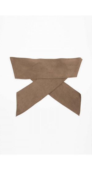 Brown Suede Sash Elisa Rivera