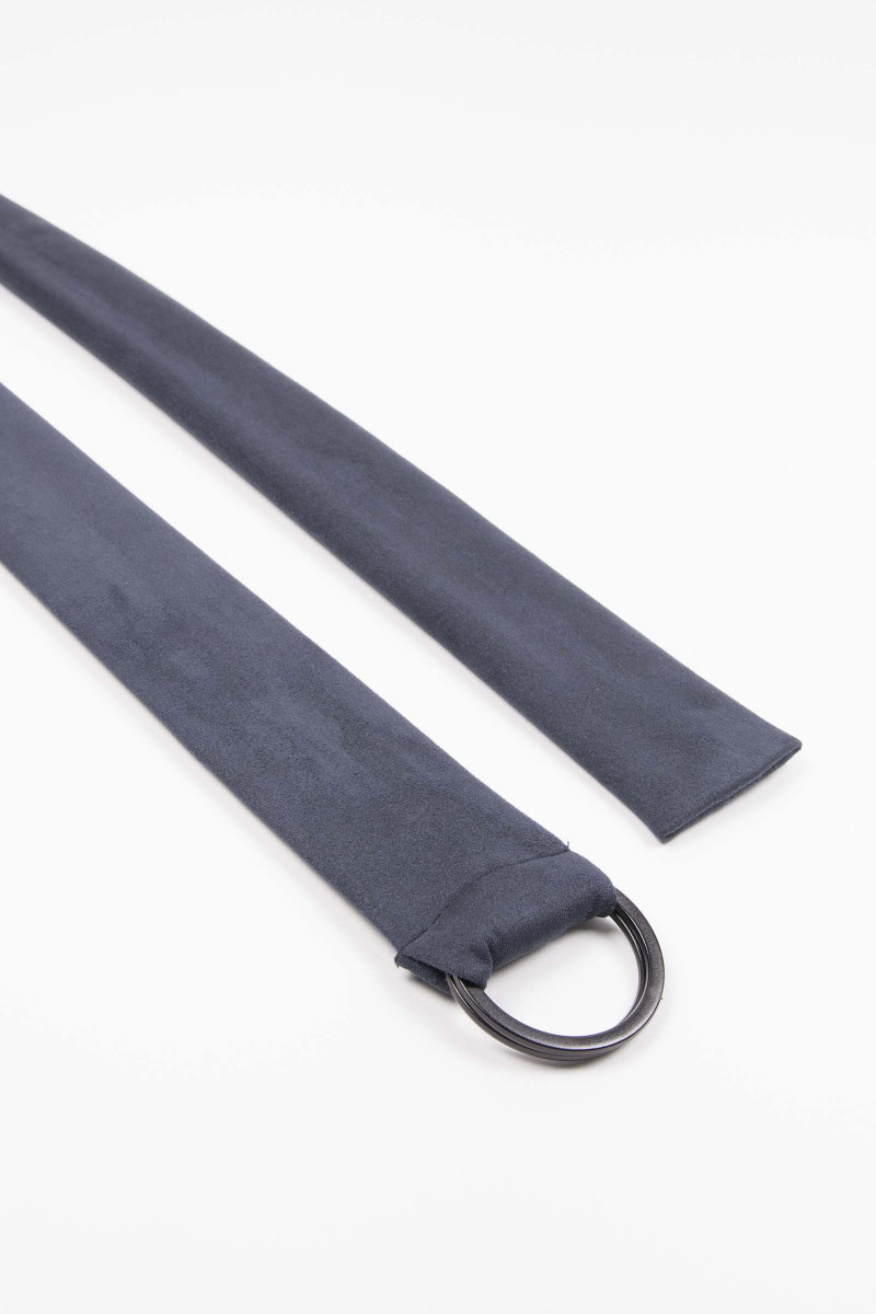 Blue Buckle Suede Sash