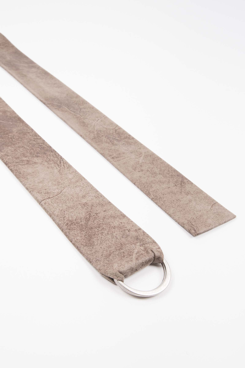 Taupe Buckle Suede Sash