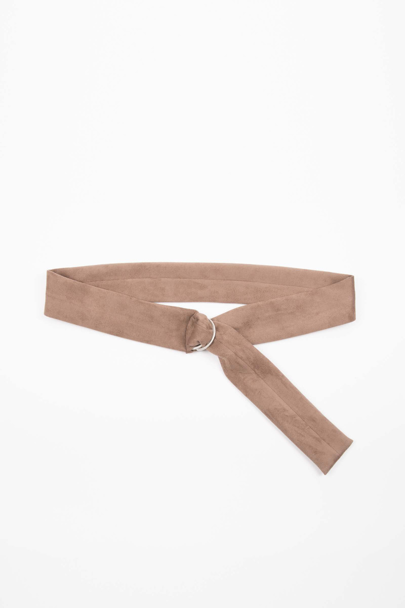 Brown Buckle Suede Sash Elisa Rivera