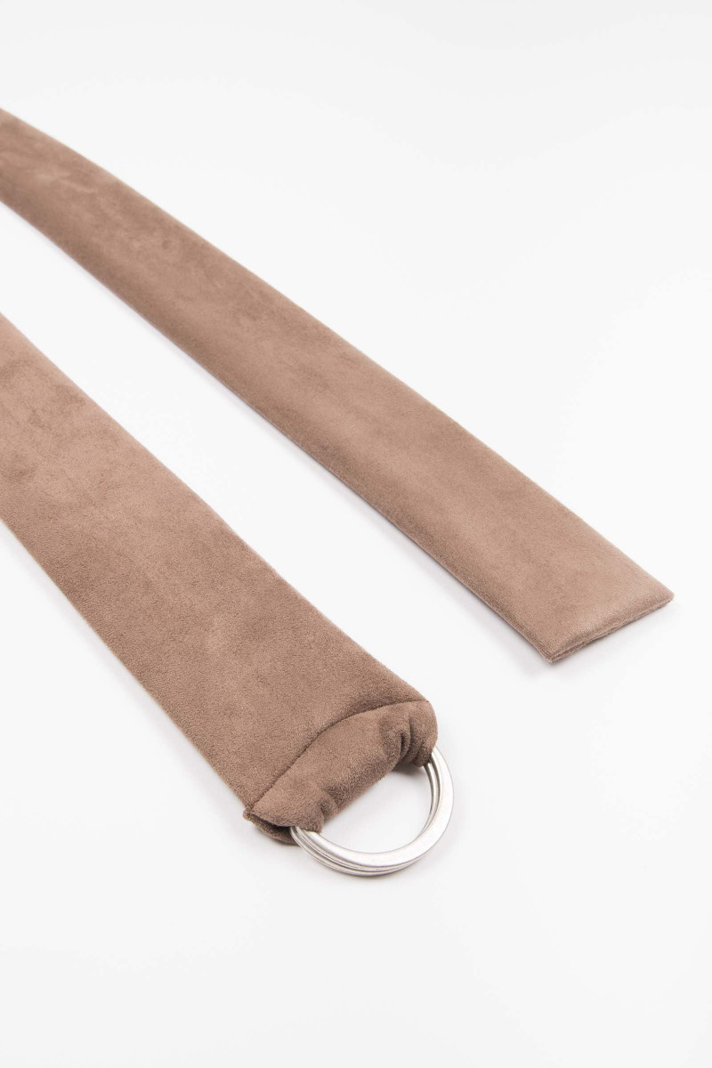 Brown Buckle Suede Sash