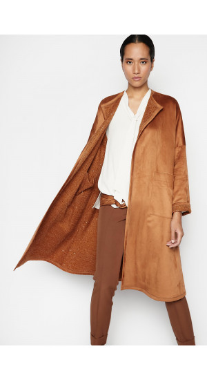 Brown Darwin Reversible Coat Elisa Rivera