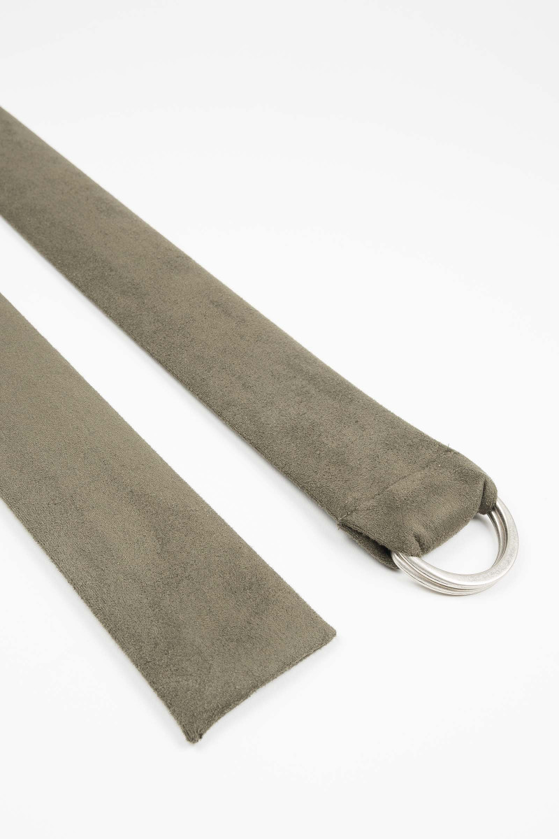 Green Buckle Suede Sash