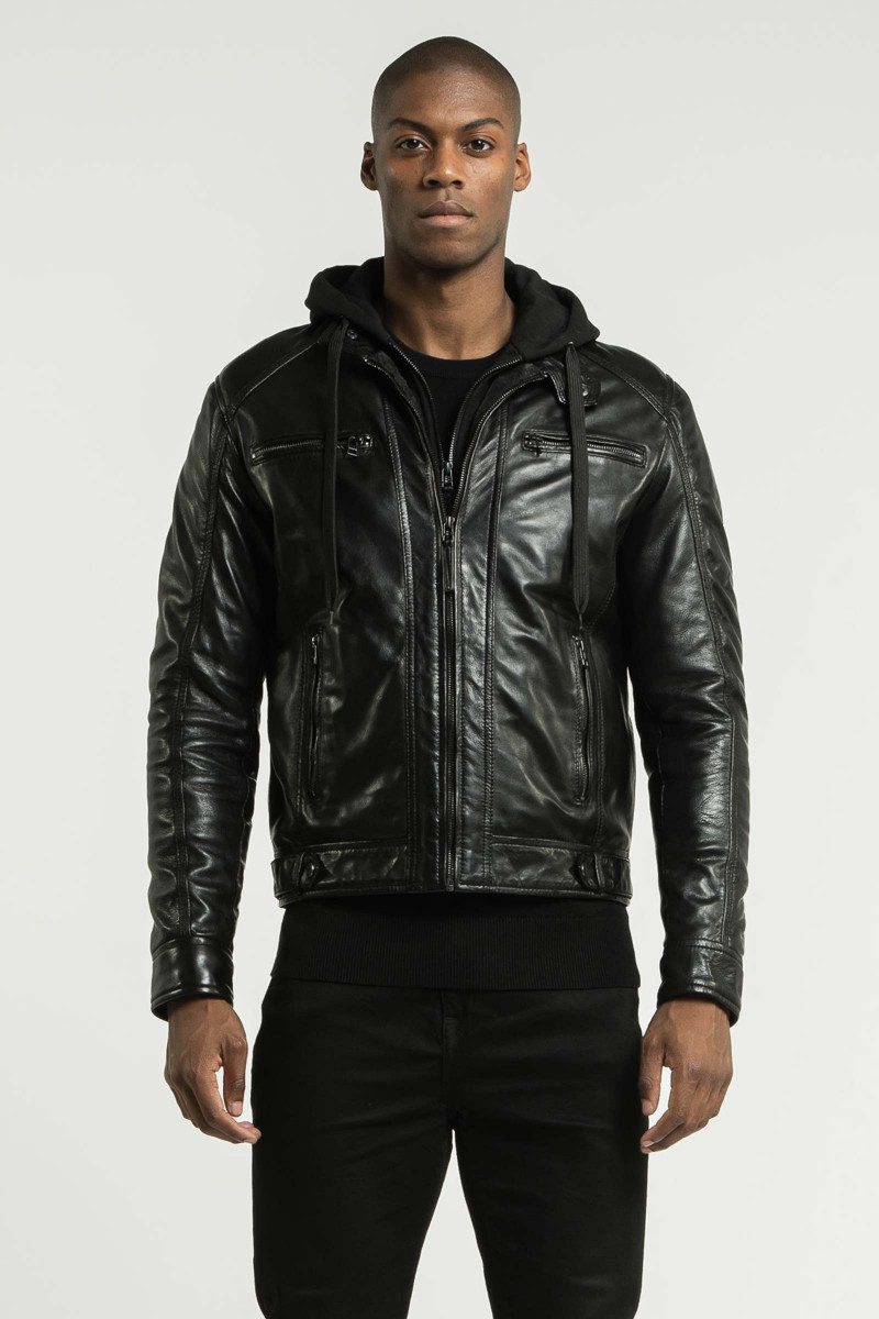 Black Erico Hood Jacket Eduardo Rivera