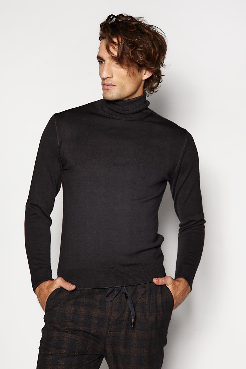 Black Turtleneck Sweater Eduardo Rivera